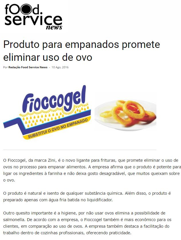 foodservice publicacao