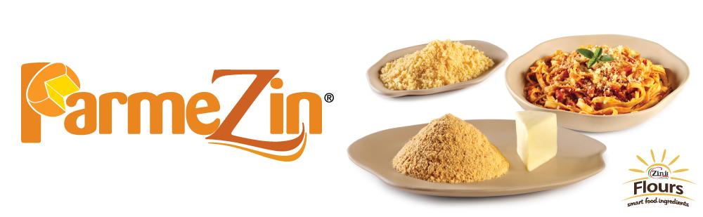 Parmezin - Preparado a base de farinha de trigo que permite substituir o queijo parmesão ralado nos pratos.
